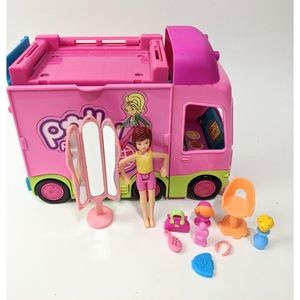 Polly Pocket Double Decker Van With Doll & Accessories